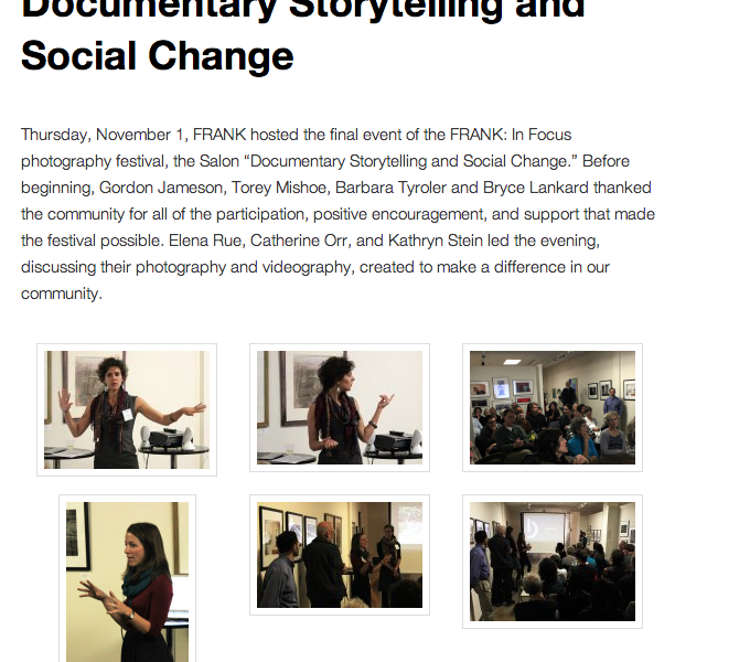 Frank in Focus: Documentary Storytelling and Social Change