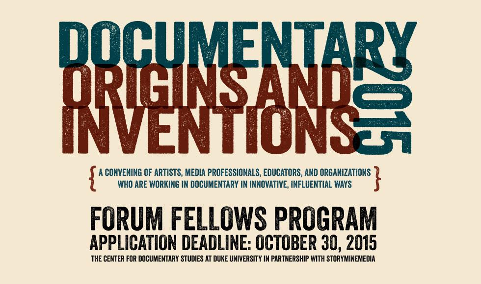 Documentary 2015: Origins and Inventions - Fellows Program