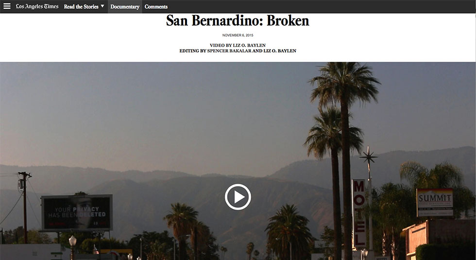 What We're Watching /// San Bernardino: Broken