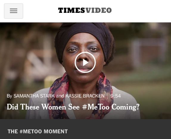 Did These Women See #MeToo Coming?  – The New York Times